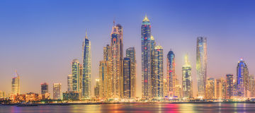 The beauty panorama of Dubai marina. UAE Stock Images