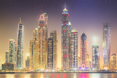 The beauty panorama of Dubai marina. UAE Stock Photography