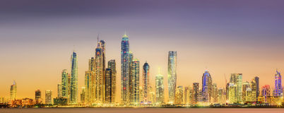 The beauty panorama of Dubai marina. UAE Stock Photos