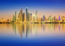 The beauty panorama of Dubai marina. UAE Stock Image