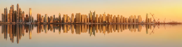 The beauty panorama of Dubai marina. UAE. The beauty panorama of skyscrapers in Dubai Marina. UAE Stock Photo