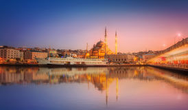 The beauty panorama of Istanbul at a dramatic sunset stock photos