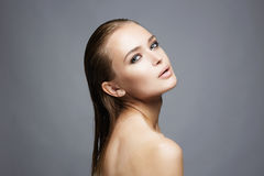 Beauty passion wet girl Royalty Free Stock Image