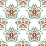 Beauty pattern with floral ornament. Vector textile swatch. Royalty Free Stock Photo