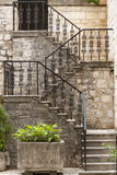 Beauty Pattern Stairs - Kotor Montenegro Stock Images
