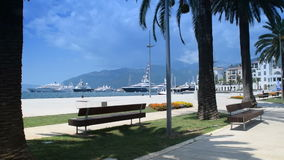 Beauty and peace near the sea, `Porto Montenegro`, Tivat, `Bay of Kotor` `Boka Kotorska`. Montenegro stock video