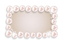 Beauty Pearl Frame Background Vector illustration Stock Images