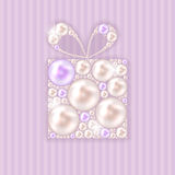 Beauty Pearl Gift Background Vector illustration Royalty Free Stock Photos
