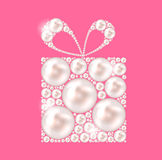 Beauty Pearl Gift Background Vector illustration Royalty Free Stock Image