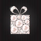 Beauty Pearl Gift Background Vector illustration Stock Photos