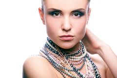 Beauty and pearls Royalty Free Stock Photography