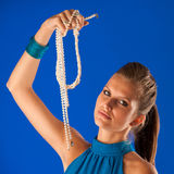 Beauty with pearls Stock Photo