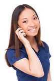 Beauty on the phone. Royalty Free Stock Photography