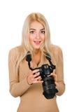 Beauty photographer reviewing good shot Stock Photos