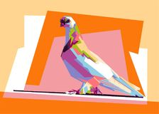 Colorful pigeon wpap royalty free stock photography
