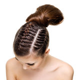 Beauty pigtails Stock Photo