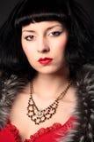 Beauty pin-up girl portrait Stock Image
