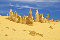 Beauty Of Pinnacles Desert Royalty Free Stock Photography
