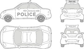 Beauty police car Stock Images