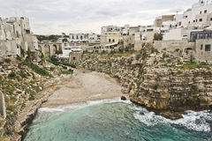 Beauty polignano a mare lama molechine royalty free stock images