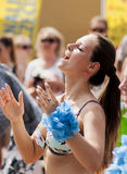 Beauty polish student dance zumba class. Szczecin, Poland - May 23, 2014: Juwenalia, is an annual students' holiday in Poland, usually celebrated for three days Stock Image