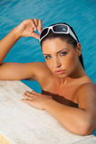 Beauty in pool Royalty Free Stock Image