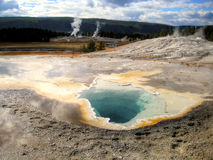 Beauty pool basin in Yellowstone (Wyoming, USA). Beauty Pool is a hot spring in the Upper Geyser Basin of Yellowstone National Park in the United States Stock Photography