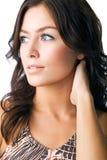 Beauty portrait. Young woman poses for beauty portrait Stock Photo