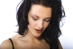 Beauty Portrait. A model portrait in the studio stock photos
