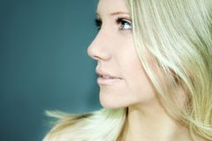 Beauty portrait. Portrait of Fresh and Beautiful blond woman Royalty Free Stock Photography