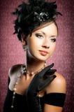Beauty portrait. Stylized vintage romantic portrait of beautiful woman Royalty Free Stock Images