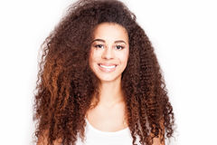 Beauty portrait of african american girl. Royalty Free Stock Image