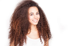 Beauty portrait of african american girl. Royalty Free Stock Images
