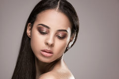 Beauty portrait of african glamour girl. royalty free stock images