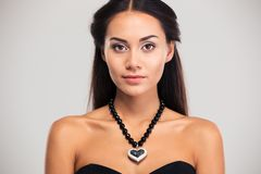 Beauty portrait of attractive female model Royalty Free Stock Image
