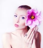 Beauty portrait of attractive woman. Stock Photo