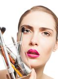 Science and makeup beauty Royalty Free Stock Image