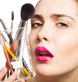 Beauty portrait and makeup science stock image
