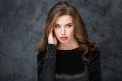 Beauty portrait of attractive young woman Royalty Free Stock Images