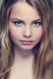 Beauty. Portrait of a beautiful blond girl Royalty Free Stock Photo