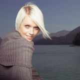Beauty portrait of beautiful blond woman Stock Photography