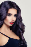 Beauty Portrait of Beautiful Brunette Woman with Curly Hair Royalty Free Stock Image
