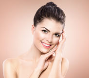 Beauty Portrait. Beautiful Spa Girl Stock Images