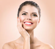 Beauty Portrait. Beautiful Spa Girl royalty free stock image