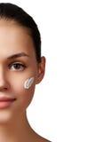 Beauty portrait. Beautiful spa woman. Perfect fresh skin. Pure b Stock Photography