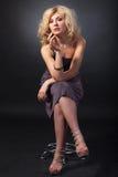 Beauty Portrait. Beautiful woman on a black background Royalty Free Stock Image