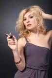 Beauty Portrait. Beautiful woman on a black background Stock Image