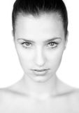Beauty portrait in black and white Stock Image