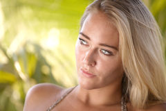 Beauty portrait of a blond woman Stock Image