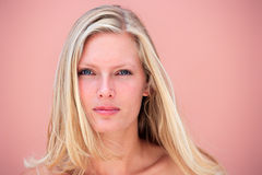 Beauty portrait of a blond woman Stock Photos
